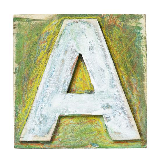 Letter Art Print.Wooden Alphabet Block Letter A Art Print By Donatas1205 Art Com