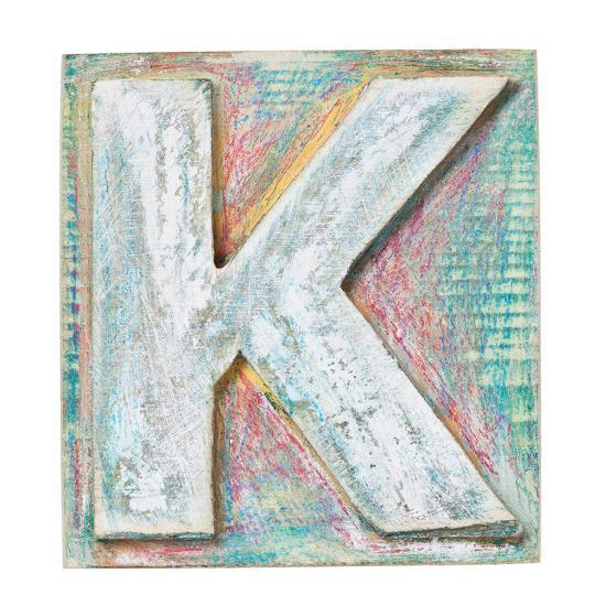 wooden alphabet block letter k art print by donatas1205 artcom
