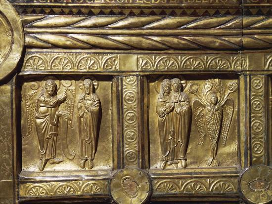 Wooden Altar Frontal Depicting Annunciation and Visitation, from Olst Near Randers--Photographic Print