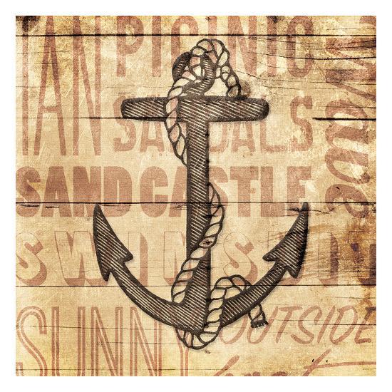 Wooden Anchor-Jace Grey-Art Print