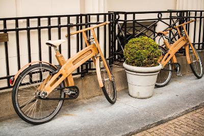 Wooden Bicycles in Amsterdam-Erin Berzel-Photographic Print
