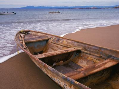 Wooden Boat Looking Out on Banderas Bay, The Colonial Heartland, Puerto Vallarta, Mexico-Tom Haseltine-Photographic Print