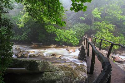Wooden Bridge-Bob Rouse-Photographic Print