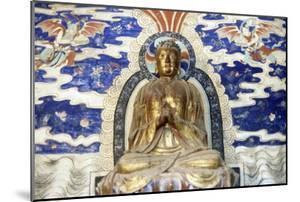 Wooden Buddha, Wild Goose Pagoda, Xian, Shanxi, China, 7th Century