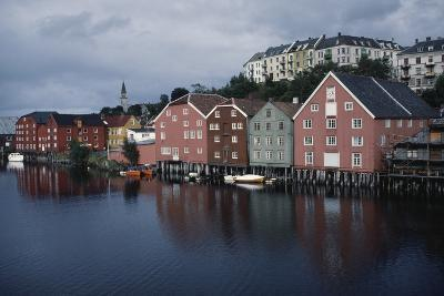 Wooden Buildings Along Nidelva River, Trondheim, Sor-Trondelag County, Norway--Photographic Print