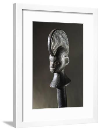 Wooden calabash stopper, Igbo, Nigeria, 19th-20th century-Werner Forman-Framed Giclee Print
