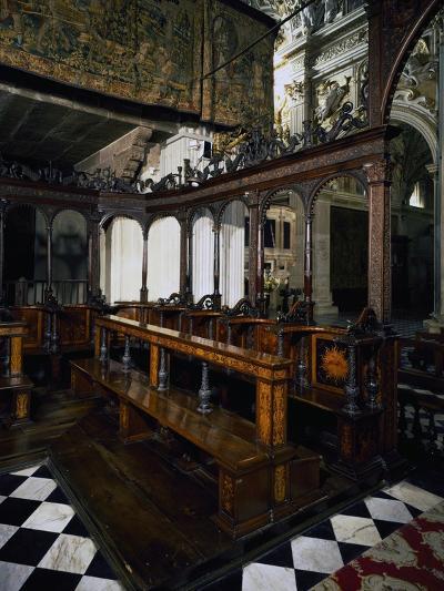 Wooden Choir of Santa Maria Maggiore Basilica, Bergamo--Giclee Print