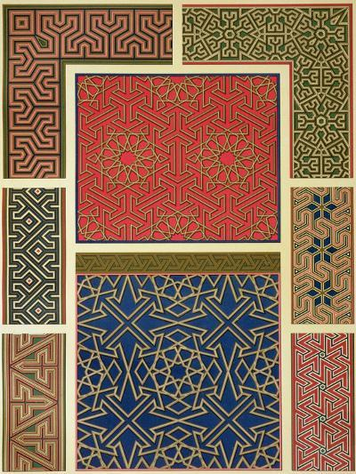 Wooden Compartments and Borders-Achille-Constant-Théodore-Émile Prisse d'Avennes-Giclee Print