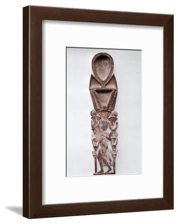 Wooden cosmetic spoon, Ancient Egyptian, 18th dynasty, c1350 BC-Werner Forman-Framed Photographic Print