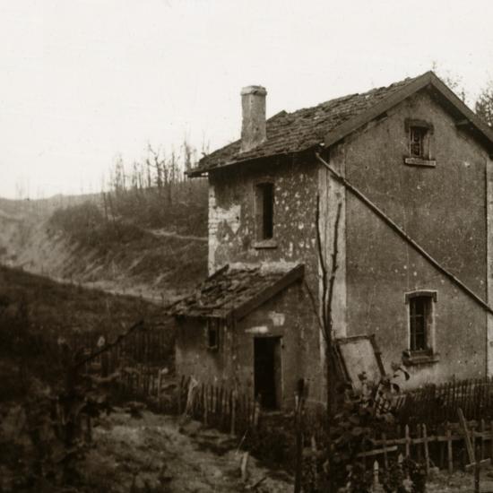 Wooden crosses, Tavannes Tunnel, Verdun, northern France, c1914-c1918-Unknown-Photographic Print
