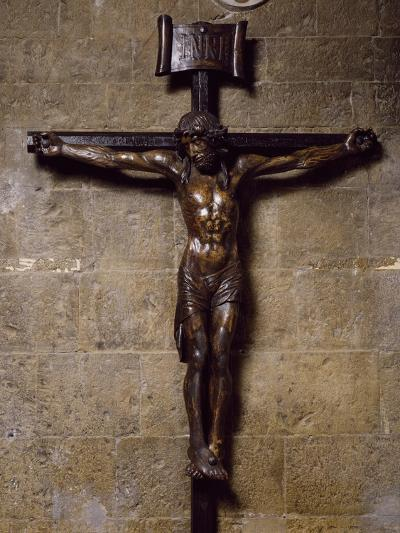 Wooden Crucifix Preserved in San Siro Co-Cathedral, Sanremo. Italy, 12th-17th Centuries--Photographic Print