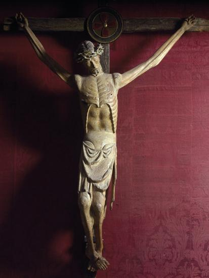 Wooden Crucifix, Sulmona Cathedral, Italy, Detail--Giclee Print