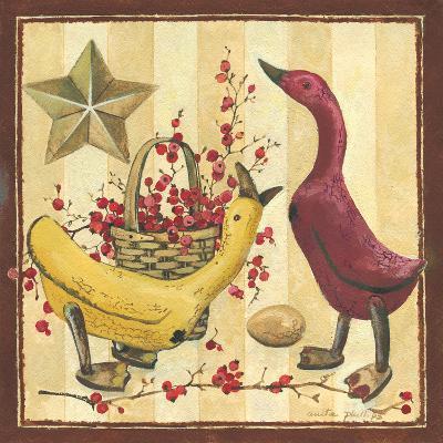 Wooden Ducks I-Anita Phillips-Art Print