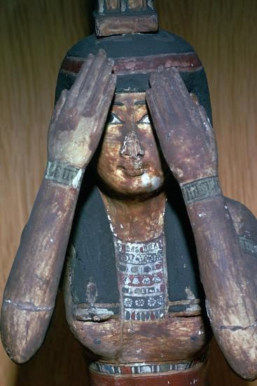 Wooden figure of the Egyptian goddess Nepthys, 15th century-Unknown-Giclee Print