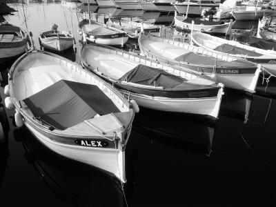 Wooden Fishing Boats, Riviera, Alpes-Maritimes, Villefranche-Sur-Mer, France-David Barnes-Photographic Print