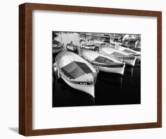 Wooden Fishing Boats, Riviera, Alpes-Maritimes, Villefranche-Sur-Mer, France-David Barnes-Framed Photographic Print