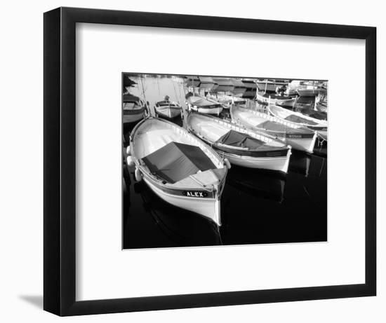 Wooden Fishing Boats, Riviera, Alpes-Maritimes, Villefranche-Sur-Mer, France-David Barnes-Framed Photographic Print