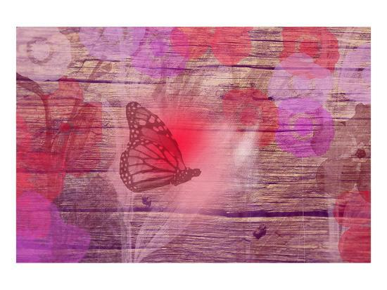 Wooden flower-Claire Westwood-Art Print