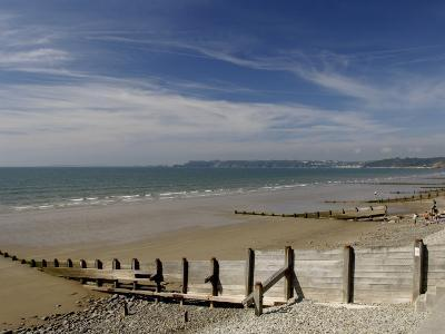 Wooden Groyne on the Beach at Amroth, Pembrokeshire, Wales, United Kingdom-Rob Cousins-Photographic Print