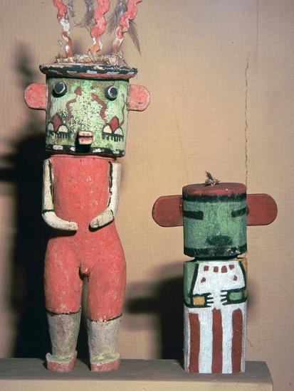 Wooden Hopi Katchina Dolls representing gods-Unknown-Giclee Print