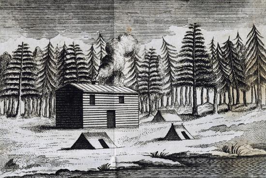 Wooden Hut on Shore of Hudson Bay-Henry Ellis-Giclee Print