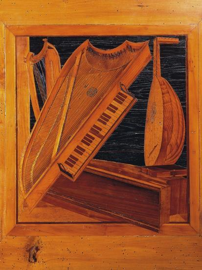 Wooden Inlays Depicting Musical Instruments, Isabella D'Este's Music Room, Ducal Palace, Italy--Giclee Print