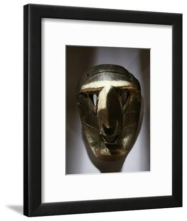 Wooden mask, DR Congo, 19th-20th century-Werner Forman-Framed Photographic Print