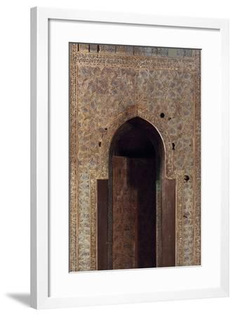 Wooden Mihrab from Sayyida Ruqayya Mausoleum, Islamic Civilization, 12th Century--Framed Photographic Print