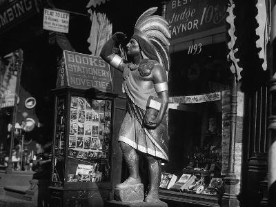Wooden Native American Cigar Shop Statue--Photographic Print