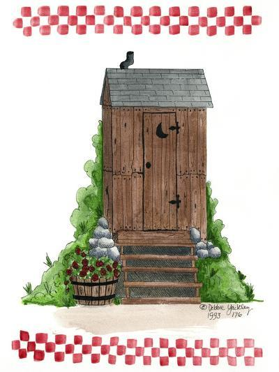 Wooden Outhouse-Debbie McMaster-Giclee Print