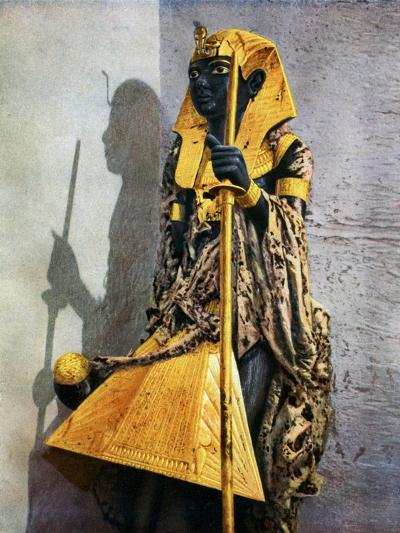 Wooden Statue of Tutankhamun, Egypt, 1933-1934-Harry Burton-Giclee Print