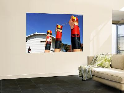 Wooden Statues by Corio Bay-Karl Blackwell-Wall Mural