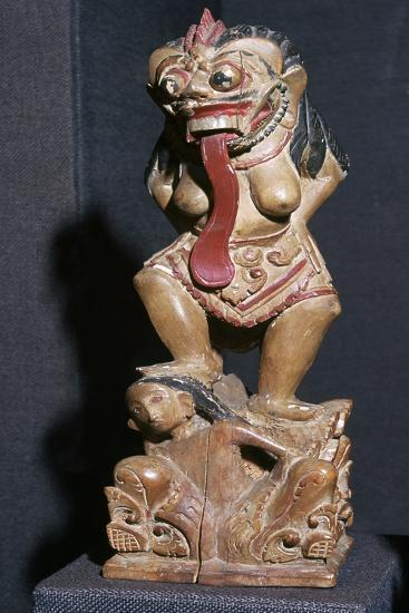 Wooden statuette of the Witch Queen Rangda-Unknown-Giclee Print