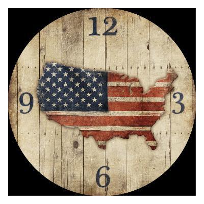 Wooden US Map Clock-Jace Grey-Art Print
