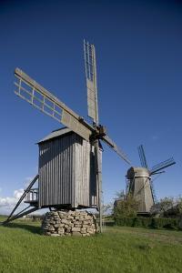 Wooden Windmills, Angla, Saaremaa Island, Estonia