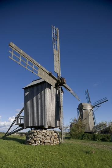 Wooden Windmills, Angla, Saaremaa Island, Estonia--Photographic Print
