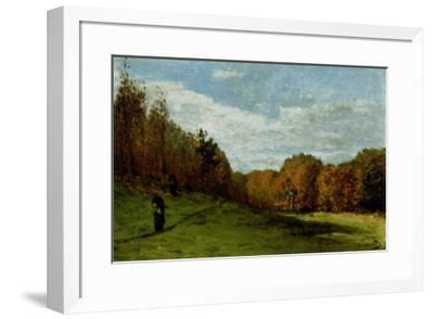 Woodgatherers at the Edge of the Forest-Claude Monet-Framed Art Print