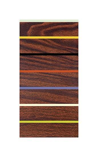 Woodgrain and Stripe-Dan Bleier-Giclee Print