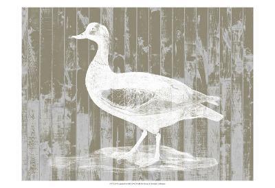 Woodgrain Fowl II-Jennifer Goldberger-Art Print