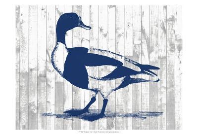 Woodgrain Fowl III-Jennifer Goldberger-Art Print