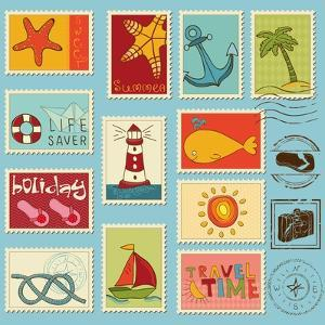 Sea Elements Stamp Collection by woodhouse