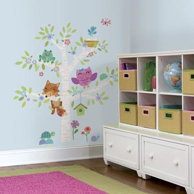 Woodland Baby Birch Tree Peel and Stick Giant Wall Decals