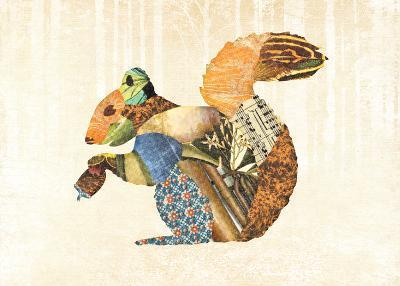 Woodland Creature: Squirrel Poster-Satchel & Sage-Art Print