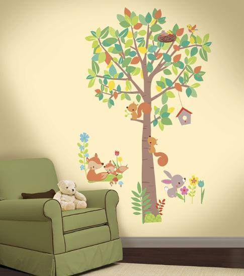 Woodland Creatures Tree L And Stick Giant Wall Decals Decal By Art
