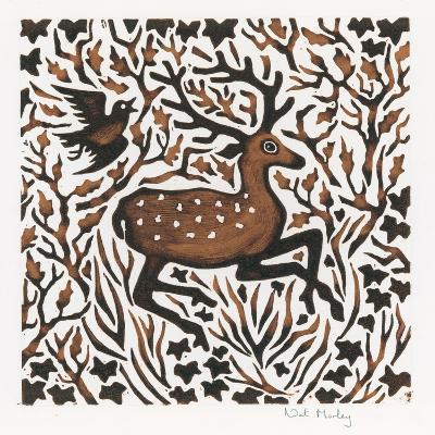 Woodland Deer, 2000-Nat Morley-Giclee Print