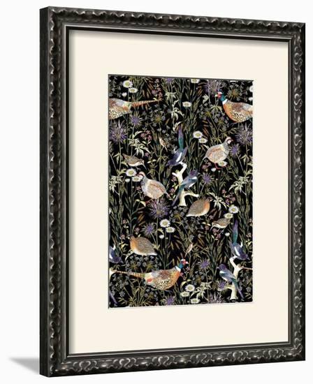 Woodland Edge Birds-Jacqueline Colley-Framed Giclee Print