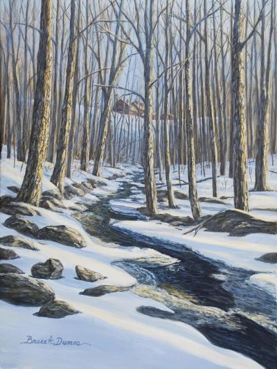 Woodland Farm Stream-Bruce Dumas-Giclee Print