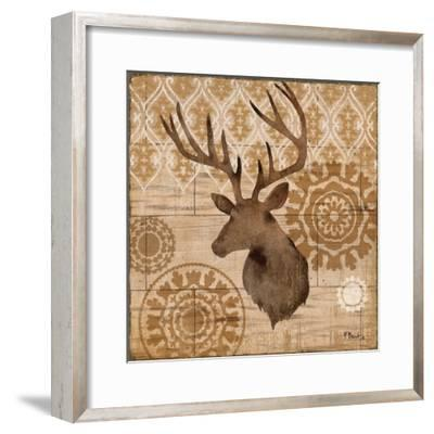 Woodland Ikat IV-Paul Brent-Framed Art Print