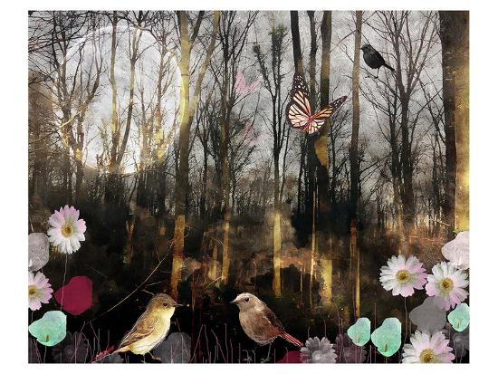 Woodland Moon-Claire Westwood-Art Print