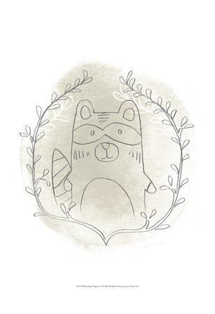 Woodland Vignettes II-June Erica Vess-Art Print